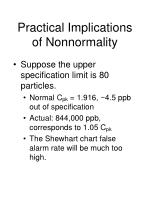practical implications of nonnormality