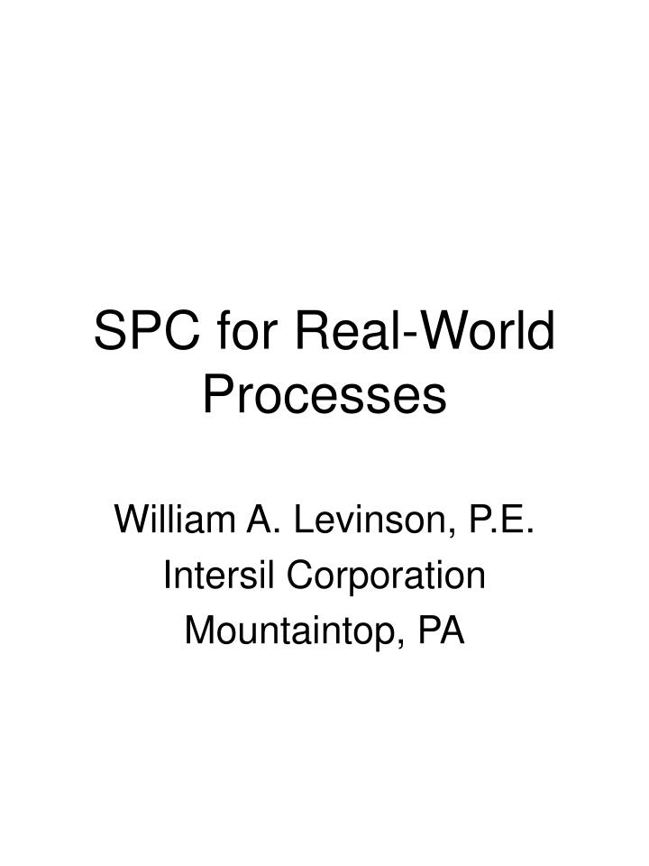 spc for real world processes n.
