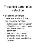 threshold parameter selection