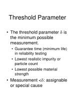 threshold parameter