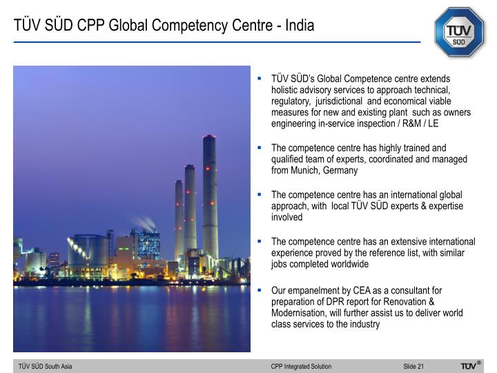 TÜV SÜD CPP Global Competency Centre - India