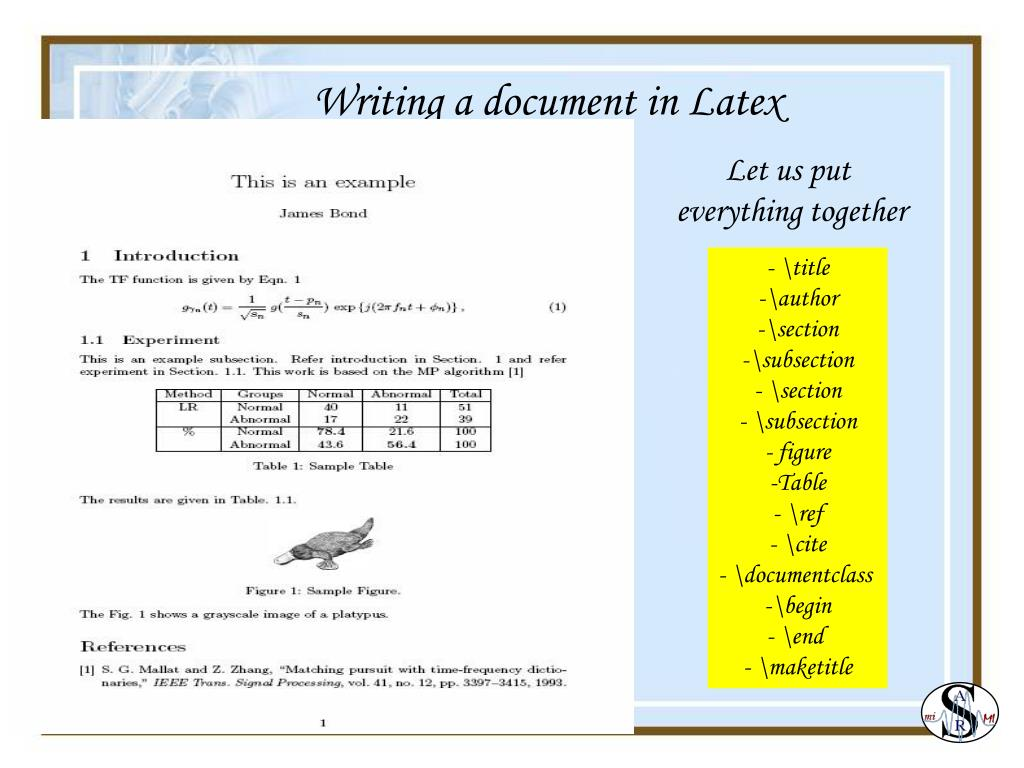 PPT - Research Tools: LaTex A high quality document preparation