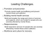 leading challenges
