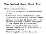 new zealand mental health plan