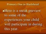 primary one in hazlehead