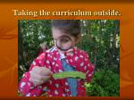 taking the curriculum outside