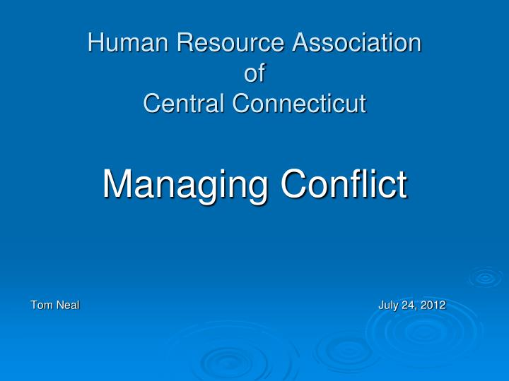 human resource association of central connecticut n.