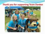 thank you for supporting team darden