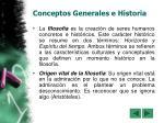 conceptos generales e historia
