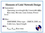 elements of link network design