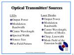 optical transmitter sources