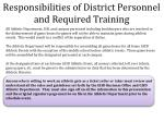 responsibilities of district personnel and required training