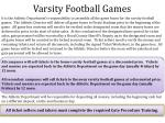 varsity football games