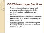 cost three major functions