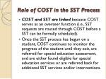 role of cost in the sst process