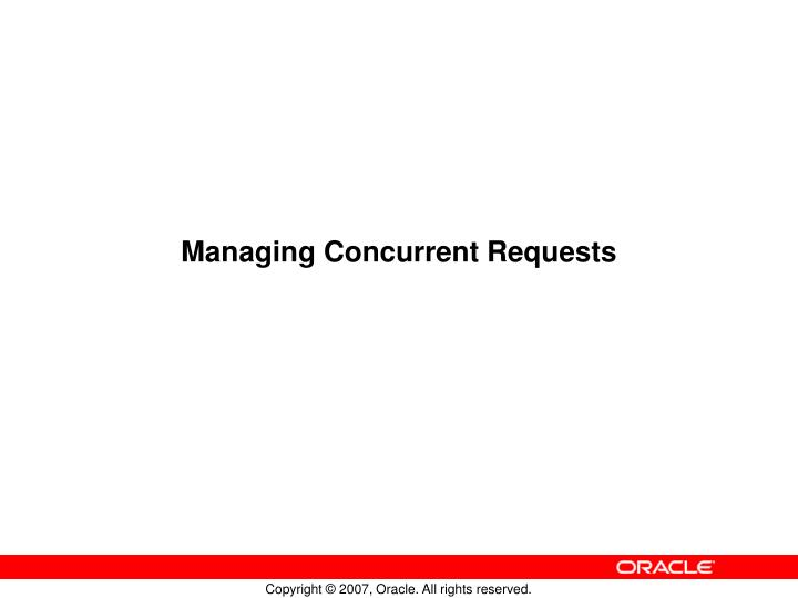 managing concurrent requests n.