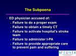 the subpoena1