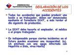 declaraci n de los accidentes