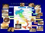 il pane in ogni regione