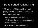 standardized patients sp2
