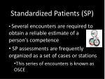 standardized patients sp3