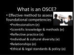 what is an osce5