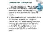 qualified veteran what next