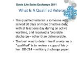 what is a qualified veteran
