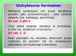 uchybienia formalne1