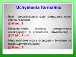 uchybienia formalne2