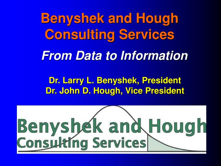 benyshek and hough consulting services n.