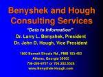 benyshek and hough consulting services1