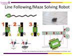 line following maze solving robot