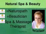 natural spa beauty