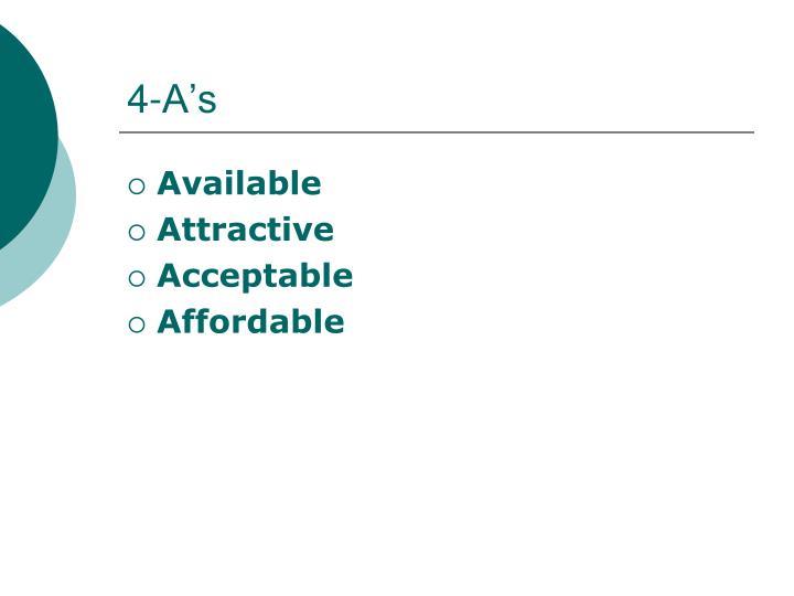 4-A's