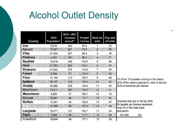 Alcohol Outlet Density