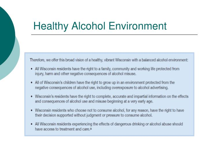 Healthy Alcohol Environment