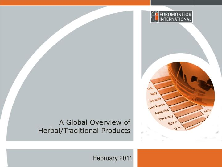 a global overview of herbal traditional products n.