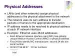 physical addresses