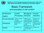 basic framework and examples of cell content