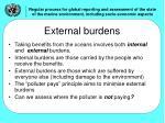 external burdens