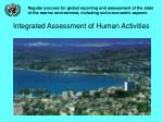 integrated assessment of human activities