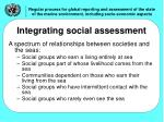 integrating social assessment
