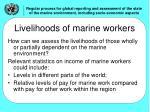 livelihoods of marine workers
