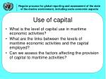 use of capital