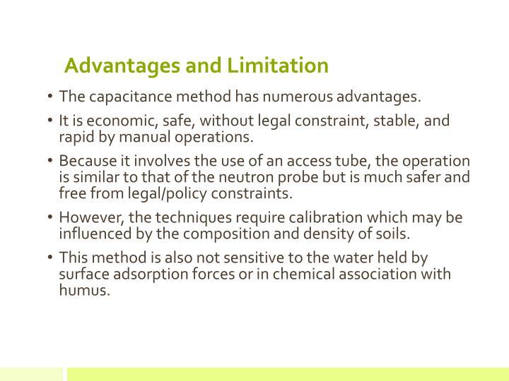 Advantages and Limitation