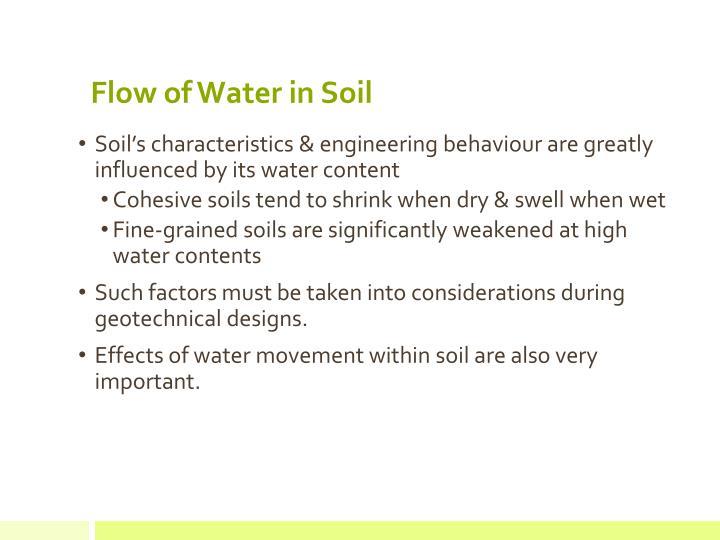 Flow of Water in Soil