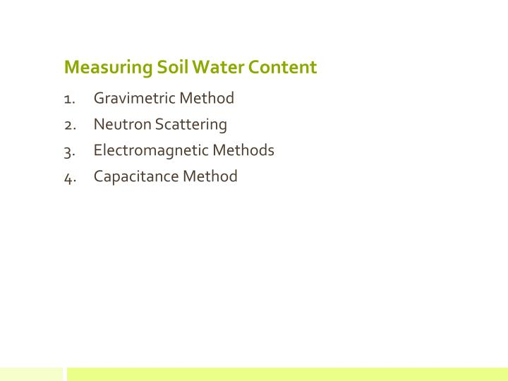 Measuring Soil Water Content