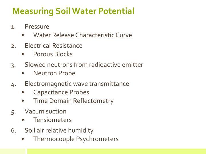 Measuring Soil Water Potential