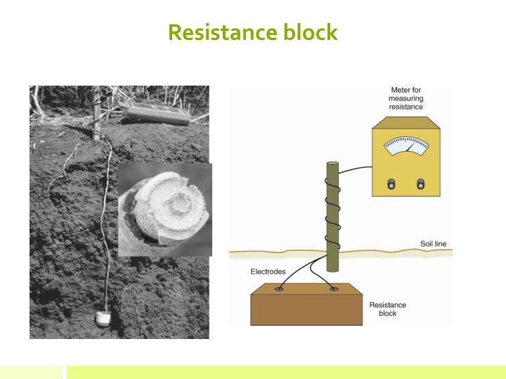 Resistance block